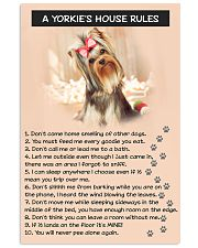 A YORKIES HOUSE RULES 11x17 Poster front