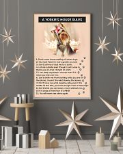 A YORKIES HOUSE RULES 11x17 Poster lifestyle-holiday-poster-1