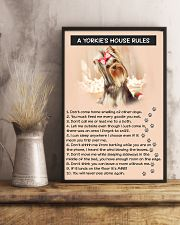A YORKIES HOUSE RULES 11x17 Poster lifestyle-poster-3