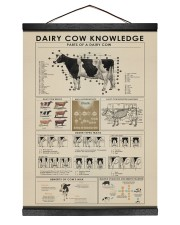 Dairy cow knowledge print poster 12x16 Black Hanging Canvas thumbnail