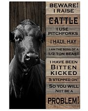 Beware i raise cattle 16x24 Poster thumbnail