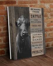 Beware i raise cattle 11x14 Gallery Wrapped Canvas Prints aos-canvas-pgw-11x14-lifestyle-front-09