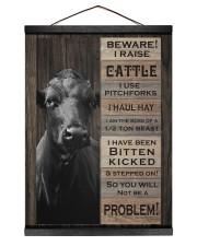 Beware i raise cattle 12x16 Black Hanging Canvas thumbnail