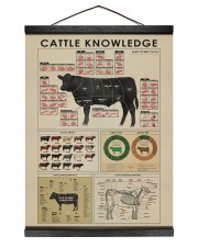Cattle knowledge Art Canvas  12x16 Black Hanging Canvas thumbnail