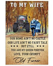 To my wife - your grumpy old farmer - Poster 24x36 Poster front