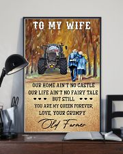 To my wife - your grumpy old farmer - Poster 24x36 Poster lifestyle-poster-2