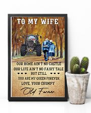 To my wife - your grumpy old farmer - Poster 24x36 Poster lifestyle-poster-8