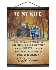 To my wife - your grumpy old farmer - Poster 12x16 Black Hanging Canvas thumbnail