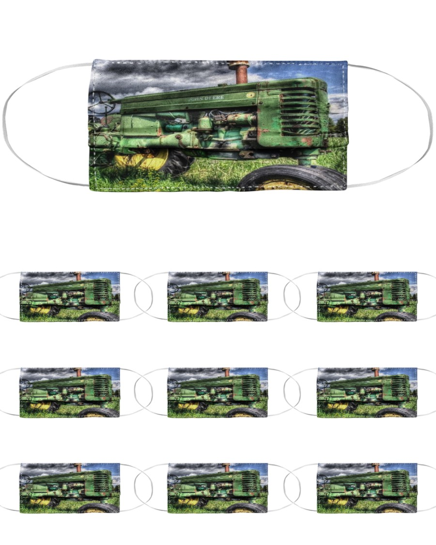 Tractor print  sk00005 Cloth Face Mask - 10 Pack