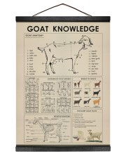 Goat Knowledge print canvas and poster  12x16 Black Hanging Canvas thumbnail