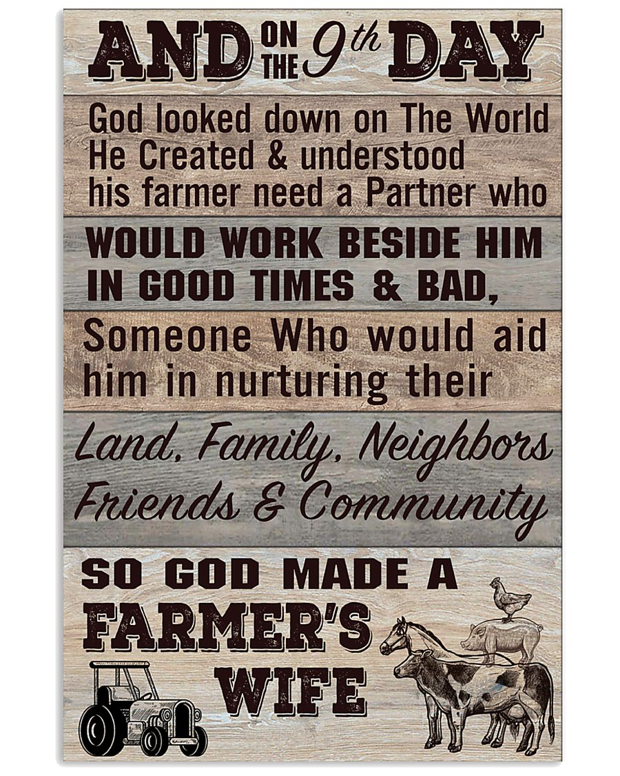 So God Made a Farmers Wife - poster 11x17 Poster