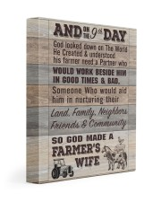 So God Made a Farmers Wife - poster 11x14 Gallery Wrapped Canvas Prints thumbnail