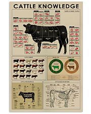 Cattle knowledge poster 24x36 Poster front