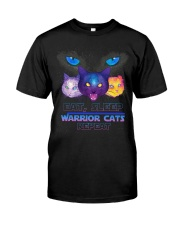 Eat sleep warrior cats repeat Premium Fit Mens Tee thumbnail