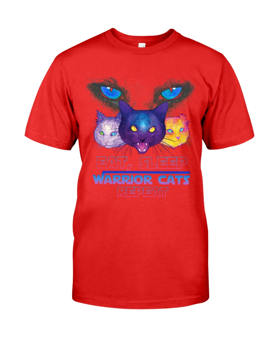 Eat sleep warrior cats repeat Premium Fit Mens Tee