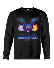 Eat sleep warrior cats repeat Crewneck Sweatshirt tile