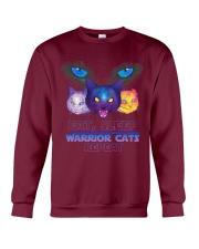 Eat sleep warrior cats repeat Crewneck Sweatshirt front