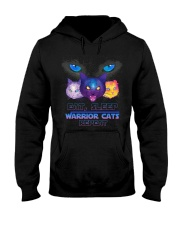 Eat sleep warrior cats repeat Hooded Sweatshirt tile