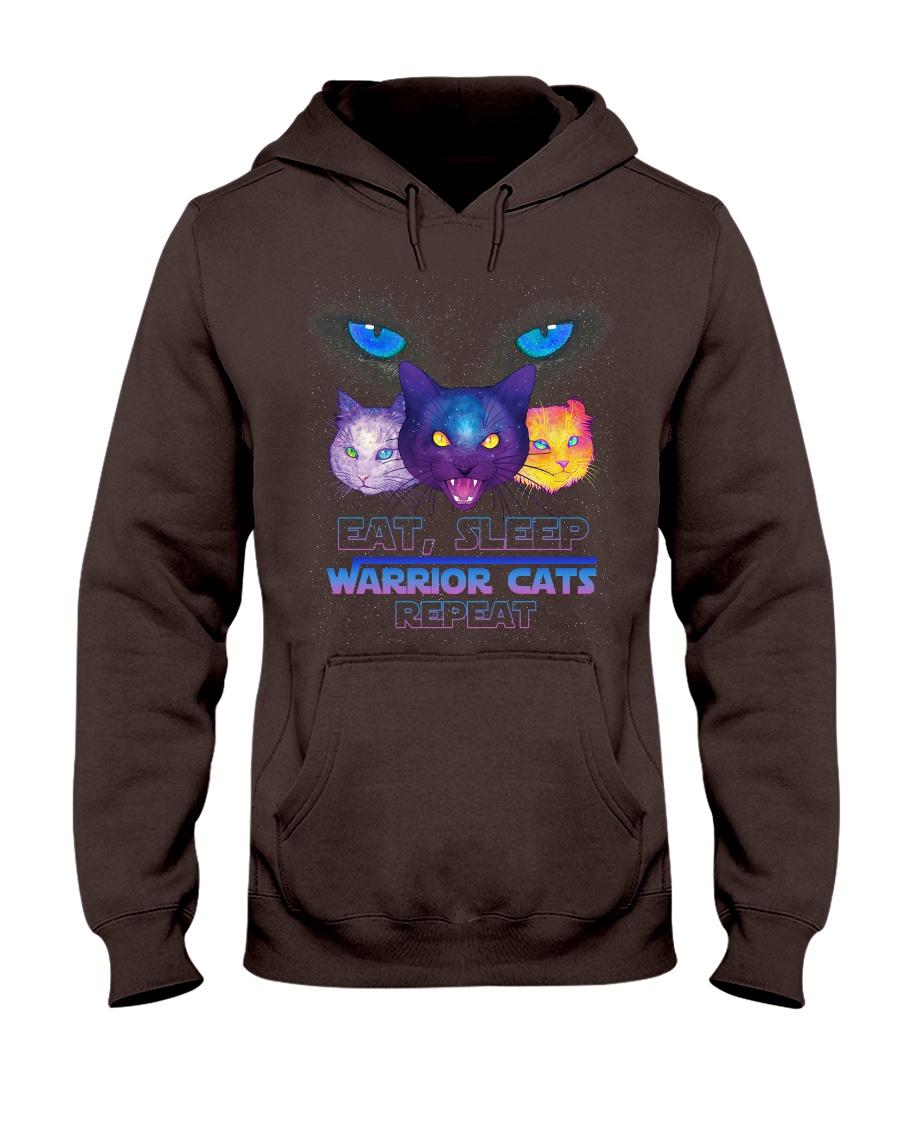 Eat sleep warrior cats repeat Hooded Sweatshirt