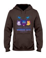 Eat sleep warrior cats repeat Hooded Sweatshirt front