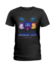Eat sleep warrior cats repeat Ladies T-Shirt thumbnail