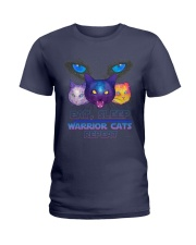 Eat sleep warrior cats repeat Ladies T-Shirt front