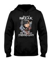 You can't break a woman   Hooded Sweatshirt tile