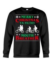 Stranger Thing Merry Christmas Moth Breather Crewneck Sweatshirt thumbnail