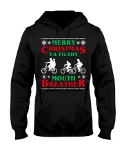 Stranger Thing Merry Christmas Moth Breather Hooded Sweatshirt thumbnail