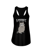 Raccon Chubby But Will Fight You Ladies Flowy Tank thumbnail