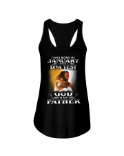 I was born in january and God is my father  Ladies Flowy Tank tile