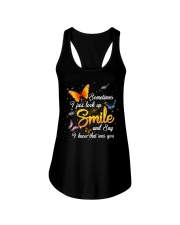 Butterfly Sometimes I Just Look Up Smile   Ladies Flowy Tank tile
