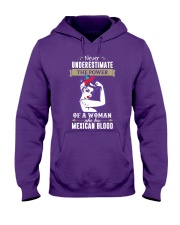 A woman who has mexican blood Hooded Sweatshirt front