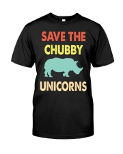 Save The Chubby Unicorns Classic T-Shirt front