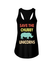 Save The Chubby Unicorns Ladies Flowy Tank tile