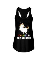 I'm just a fat unicorn Ladies Flowy Tank thumbnail
