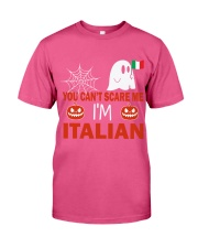 You can't scare me i'm Italian Premium Fit Mens Tee front