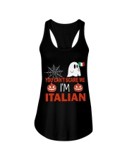You can't scare me i'm Italian Ladies Flowy Tank thumbnail