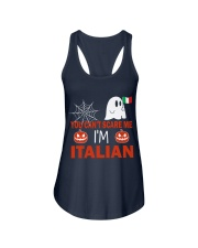 You can't scare me i'm Italian Ladies Flowy Tank front