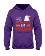 You can't scare me i'm Italian Hooded Sweatshirt front