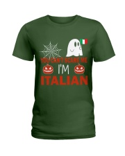 You can't scare me i'm Italian Ladies T-Shirt front