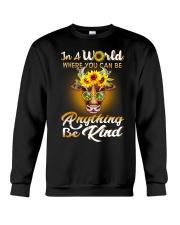Be Kind Hippie Cow Girl Crewneck Sweatshirt thumbnail