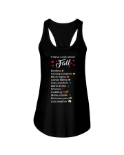 Things I Love About Fall Bonfires Carving Pumpkins Ladies Flowy Tank thumbnail