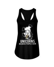 Unicorns because people suck Ladies Flowy Tank tile
