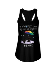 In a world where you can be anything be kind Ladies Flowy Tank tile