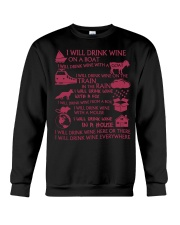 I will drink wine Crewneck Sweatshirt tile