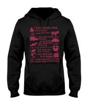 I will drink wine Hooded Sweatshirt tile