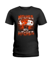 Witches with hitches Ladies T-Shirt tile