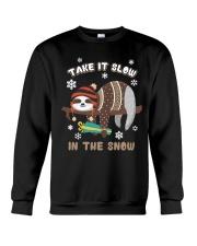Take It Slow In The Snow Sloth Christmas Crewneck Sweatshirt tile