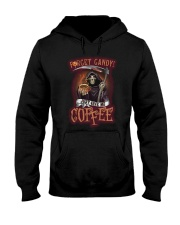Forget candy just give me coffee Hooded Sweatshirt tile